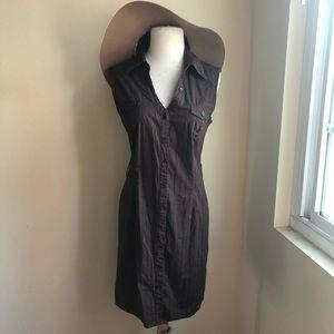 A. Byer Cotton Button Down Shirt Dress